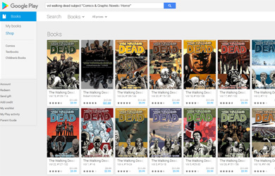 Google Play Graphic Novel Filter Featured Article